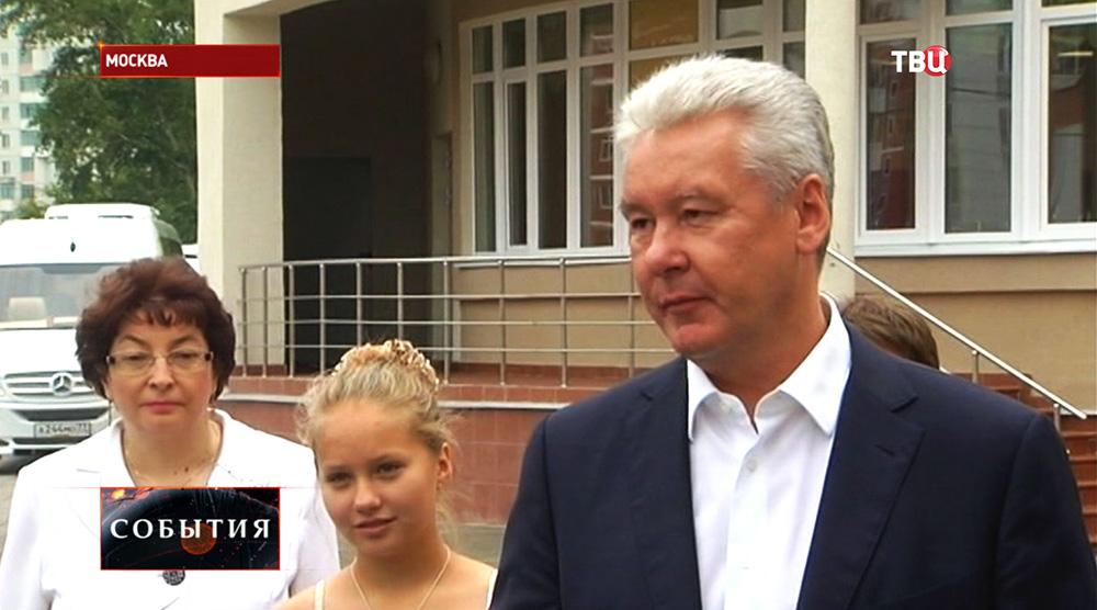 Мэр Москвы Сергей Собянин осмотрел новую школу