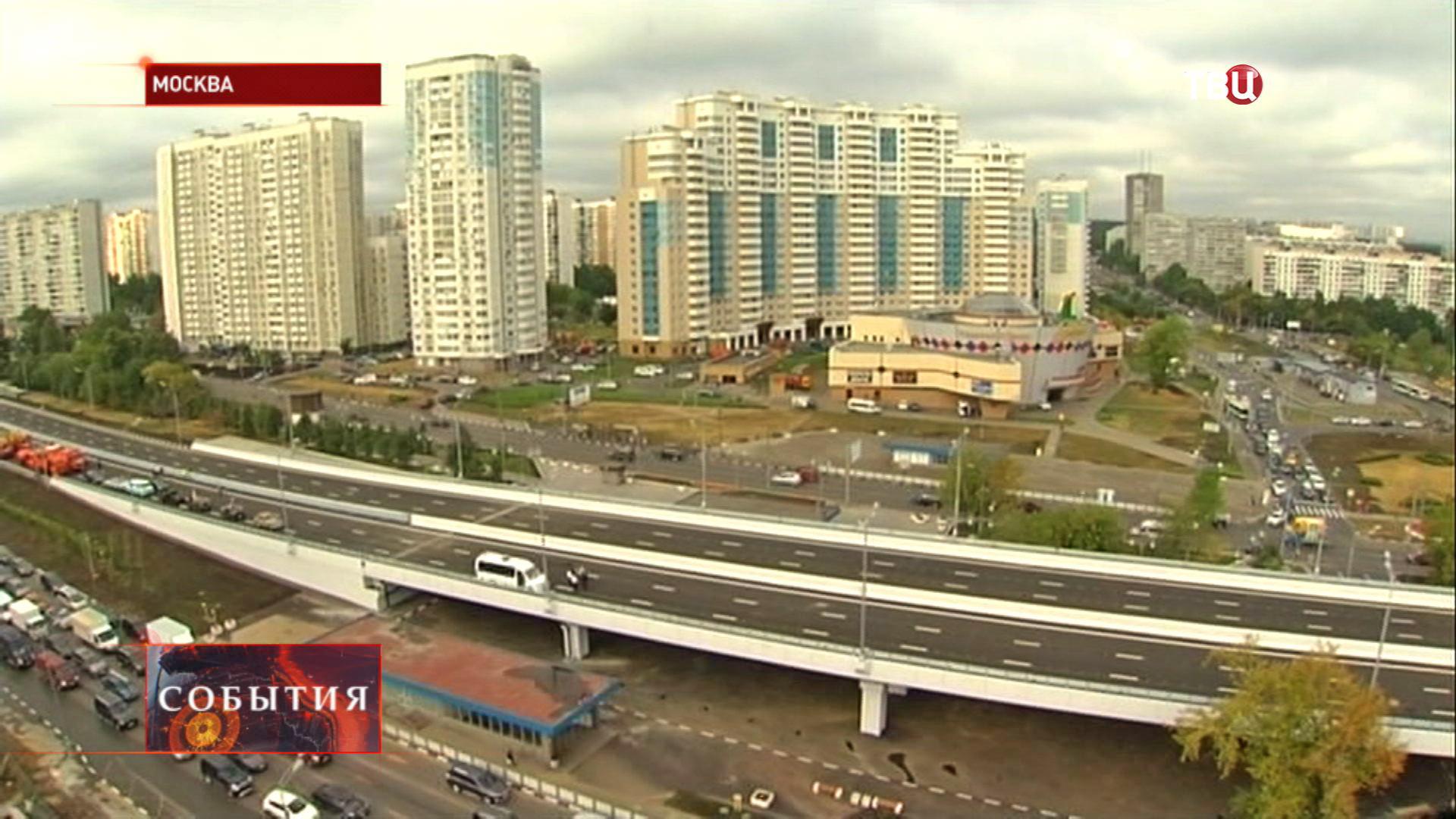 Новая эстакада на пересечении Варшавского шоссе и улицы Академика Янгеля