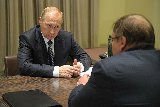 Президент России Владимир Путин и глава Ивановской области Павел Коньков