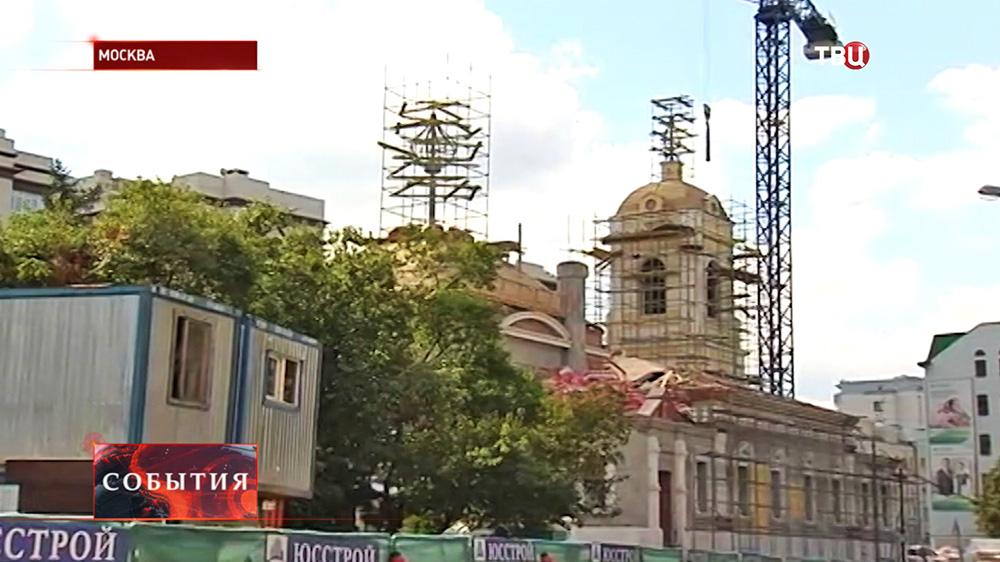 Восстановительные работы храма Преображения Господня