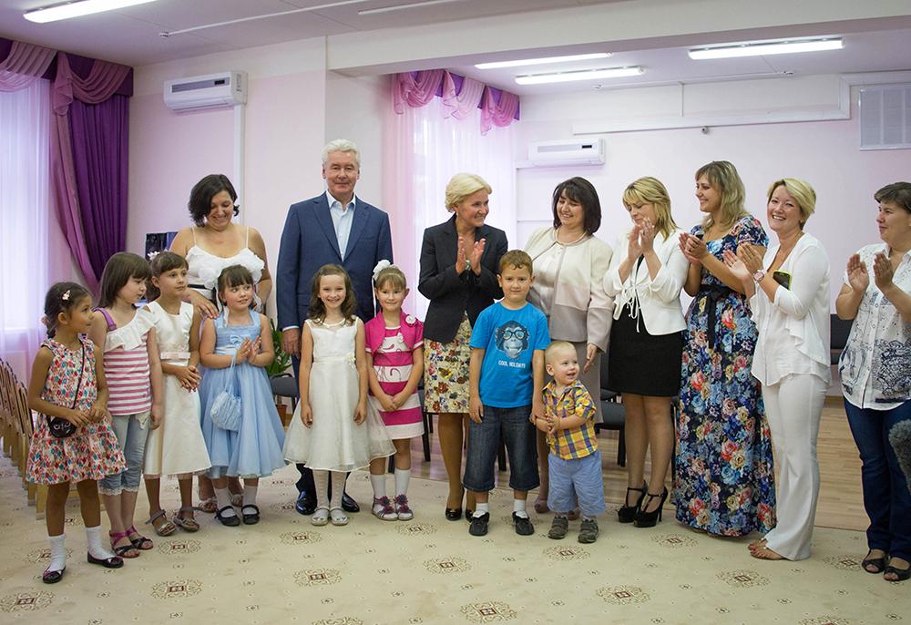 Сергей Собянин и Ольга Голодец посетили детский сад