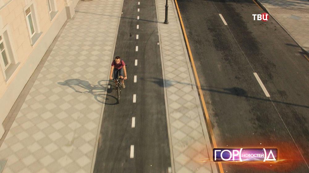 Велодорожка на Пятницкой улице