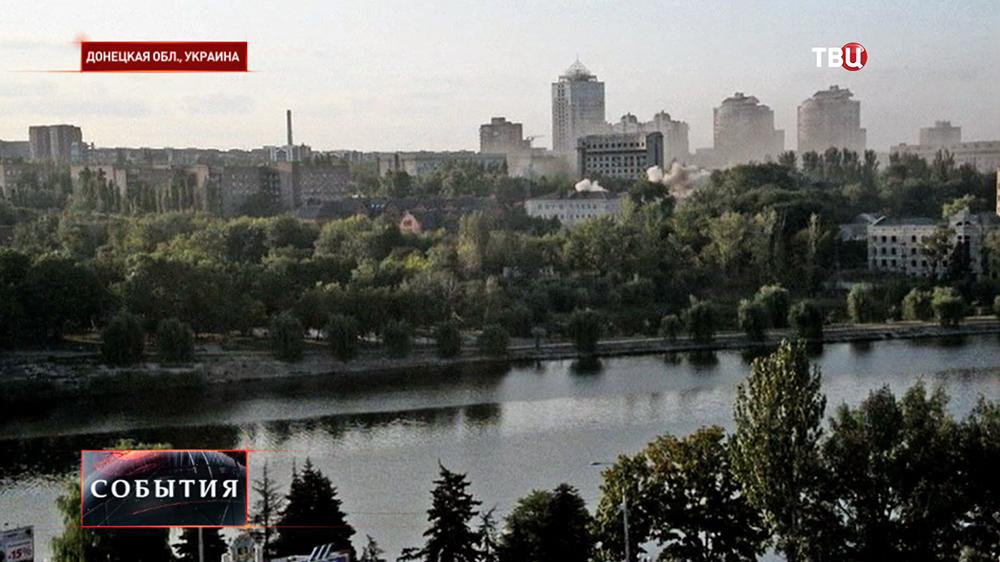 Артобстрел украинскими войсками Донецка