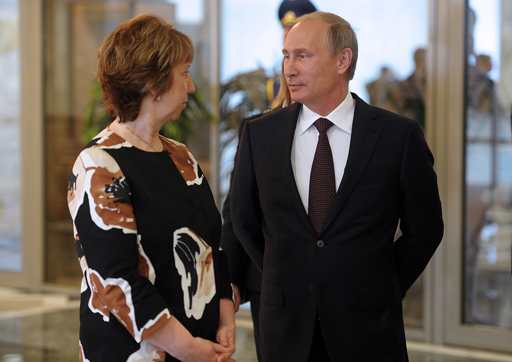 Кэтрин Эштон и президент России Владимир Путин