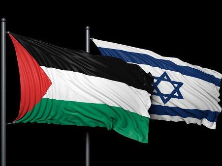 Флаги Палестины и Израиля