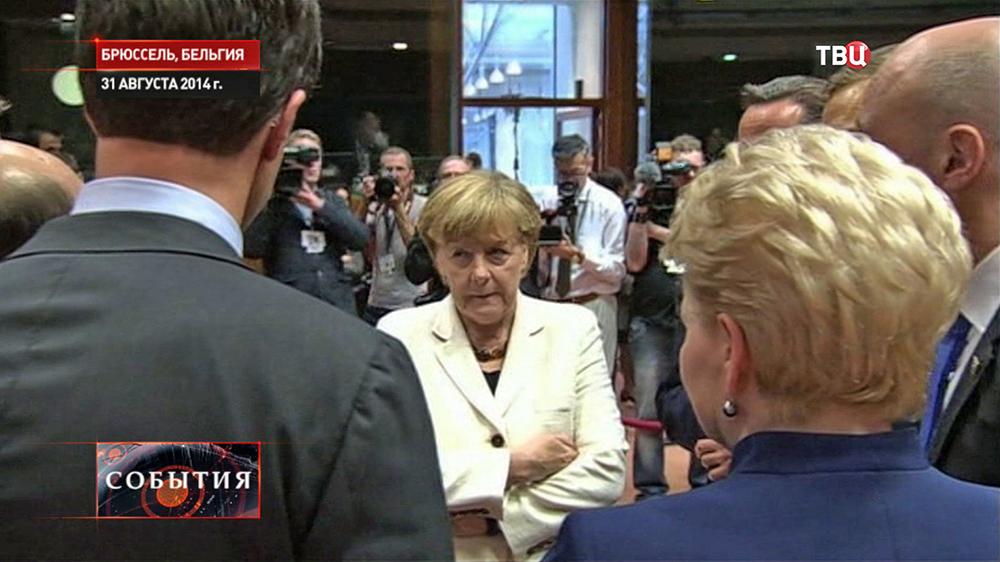 Канцлер Германии Ангела Меркель на саммите ЕС в Брюсселе