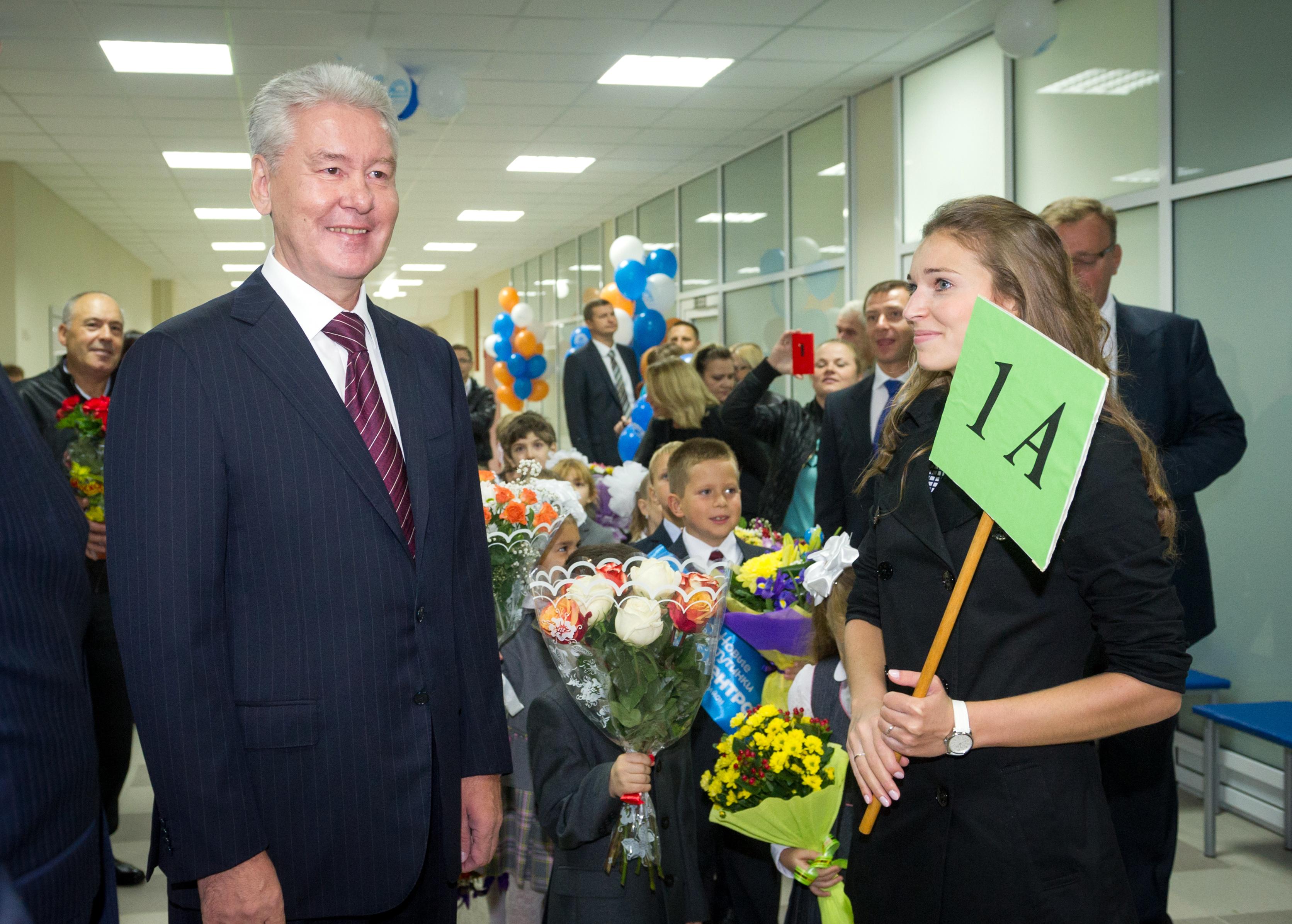 Сергей Собянин посетил школу 1 сентября