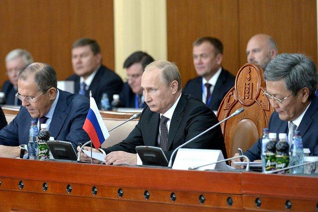 Рабочий визит президента РФ Владимира Путина в Монголию