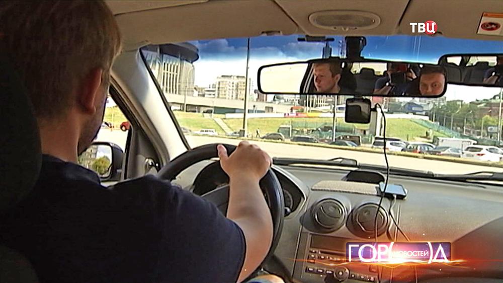 Урок вождения в автошколе
