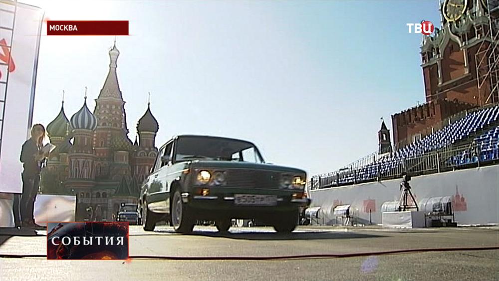 Ретроавтомобили на Красной площади