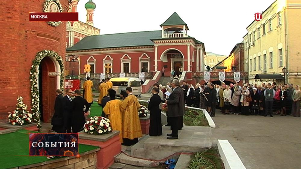Освящение храма в честь устроителя Московских земель митрополита Петра