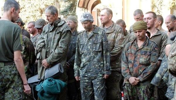 Пленные украинские военные