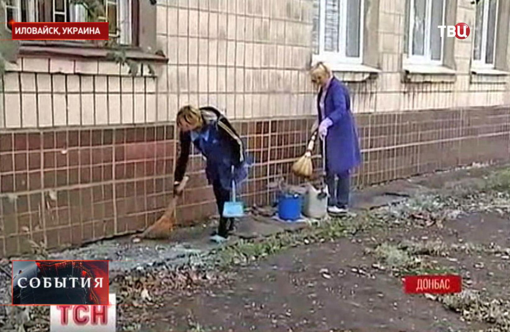Уборка улиц в Иловайске
