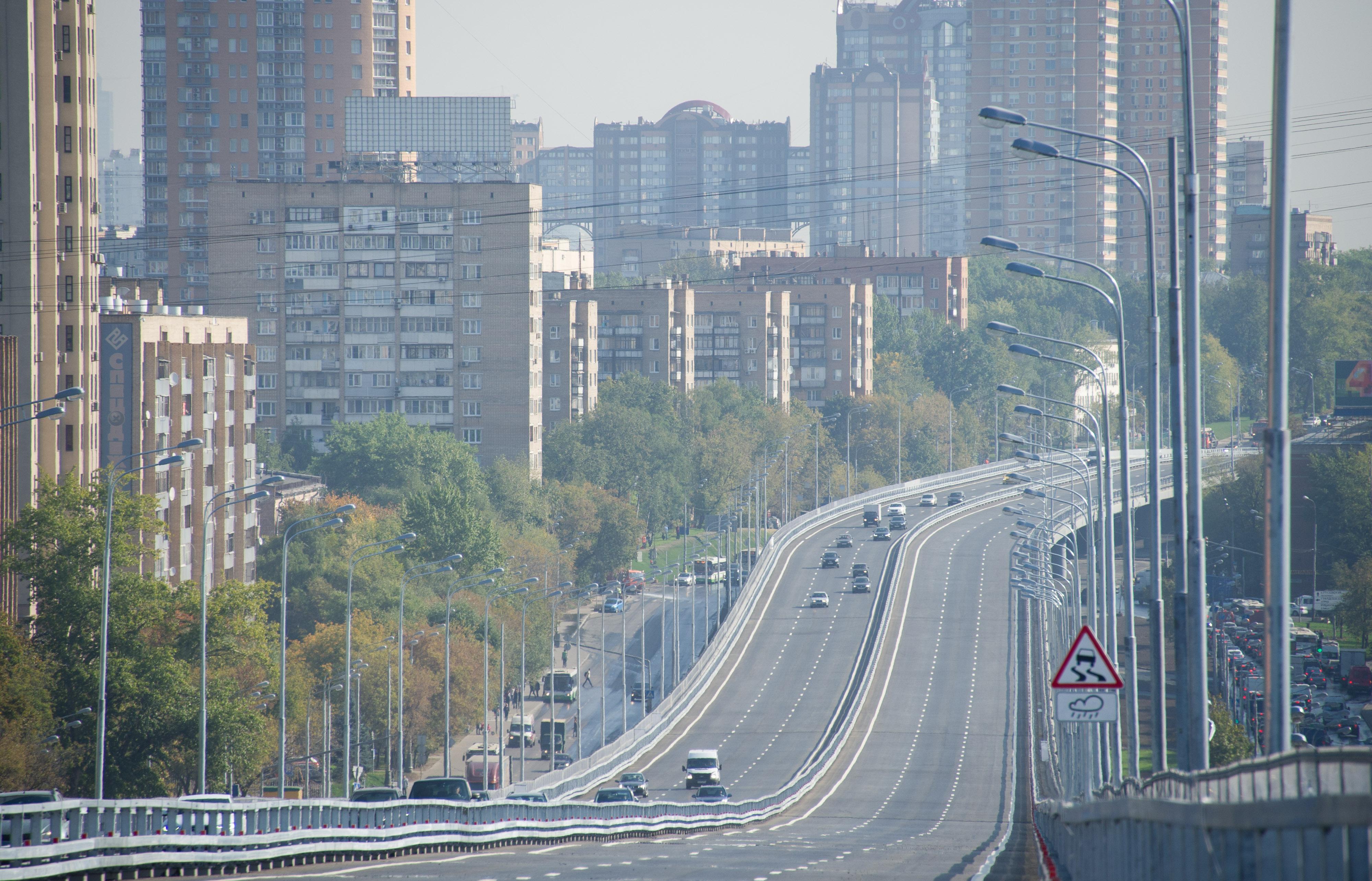 Открытие движения по эстакаде на Можайском шоссе