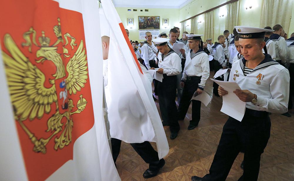 Голосование военнослужащих в единый день голосования в Крыму