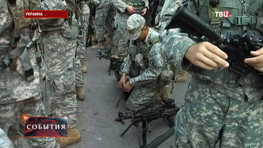 Военослужащие сил НАТО на Украине