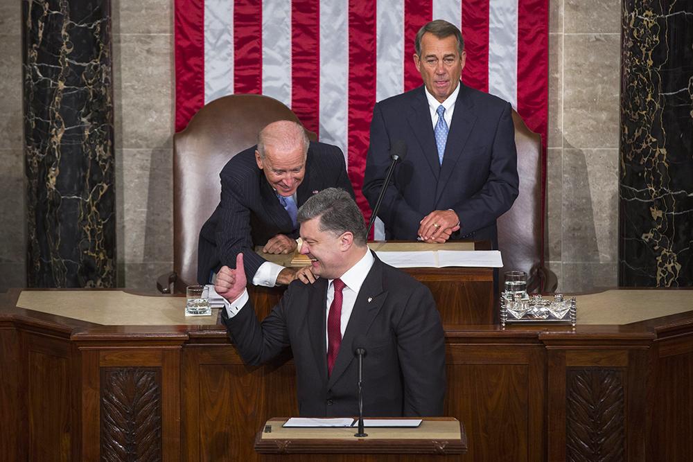 Президент Украины Петр Порошенко в конгрессе США