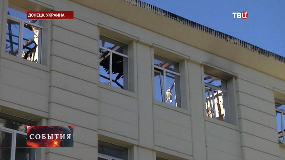 Последствия военных действий в Донецке