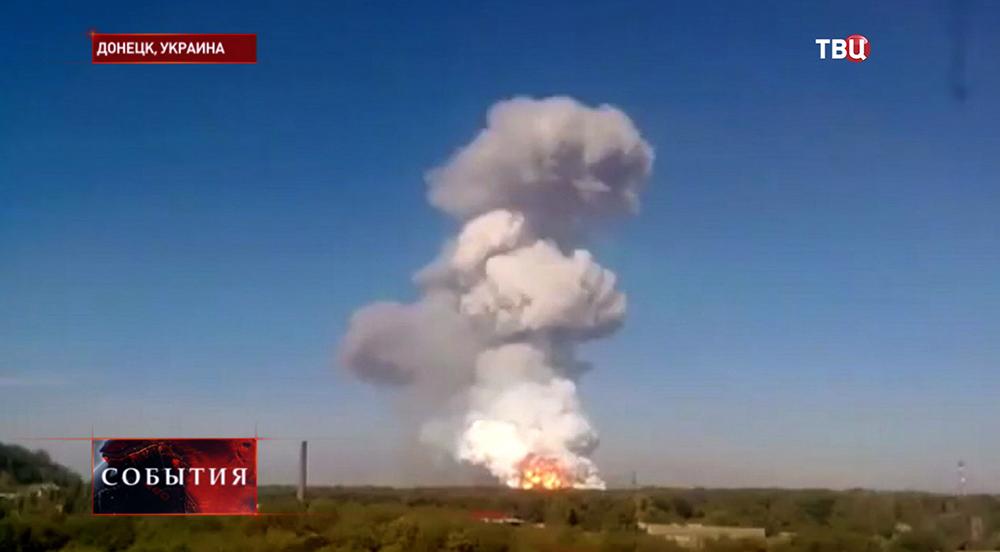 Обстрел жилых районов в Донецка