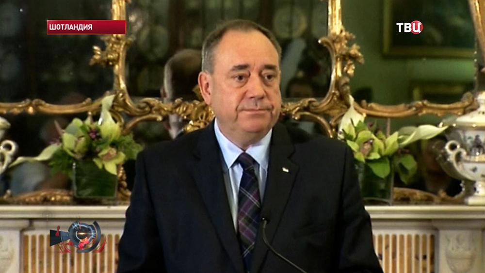Первый министр правительства Шотландии Алекс Салмонд