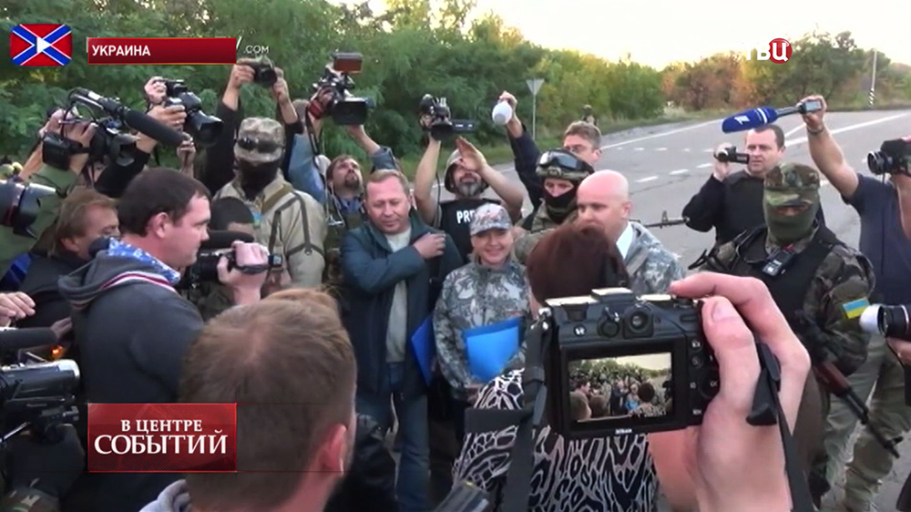 Обмен военнопленными в Донецкой области