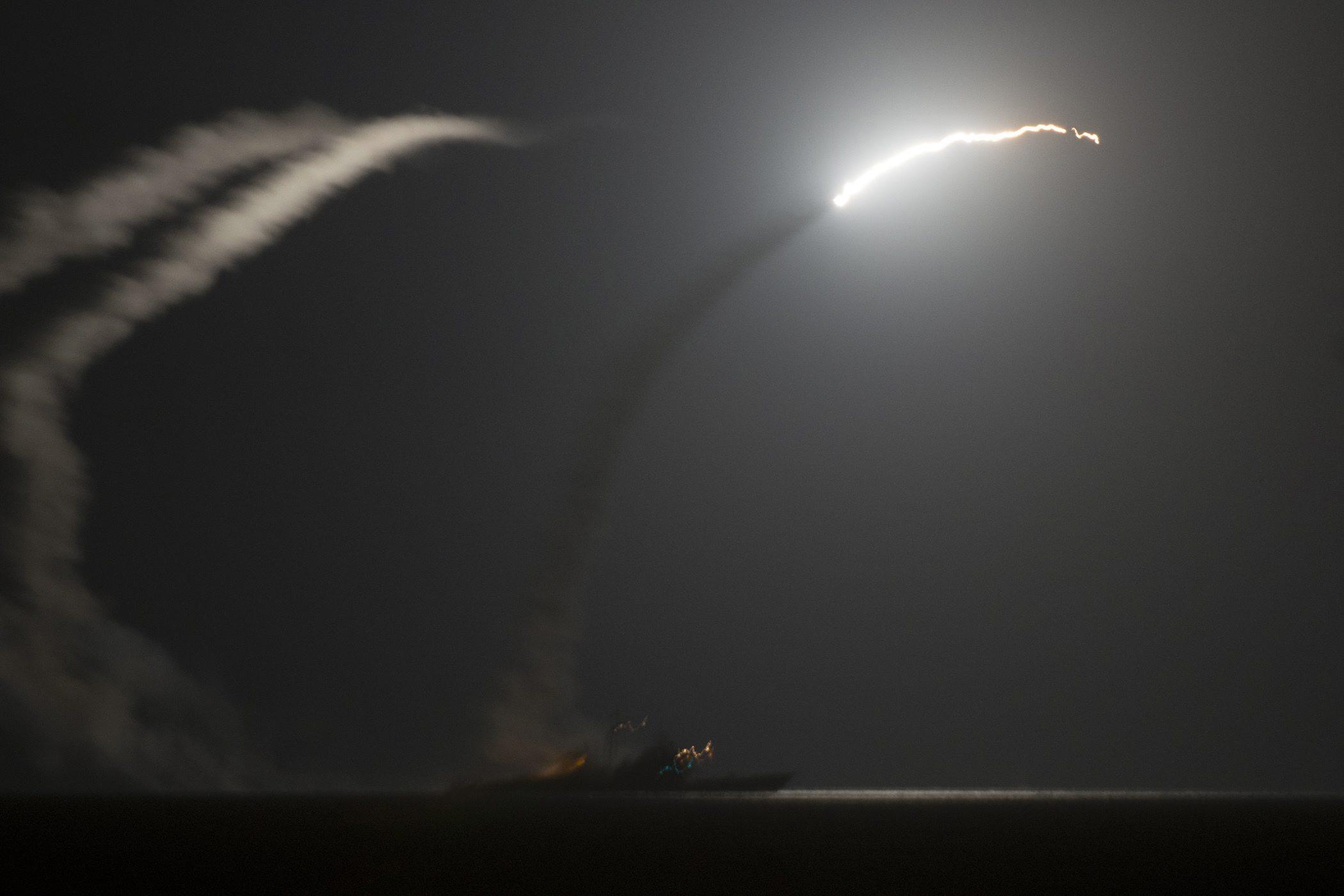 """Во время нанесения авиаударов по объектам боевиков """"Исламского государства"""" в Сирии"""