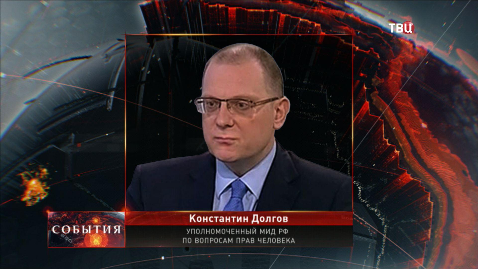 Уполномоченный МИД РФ по вопросам прав человека Константин Долгов
