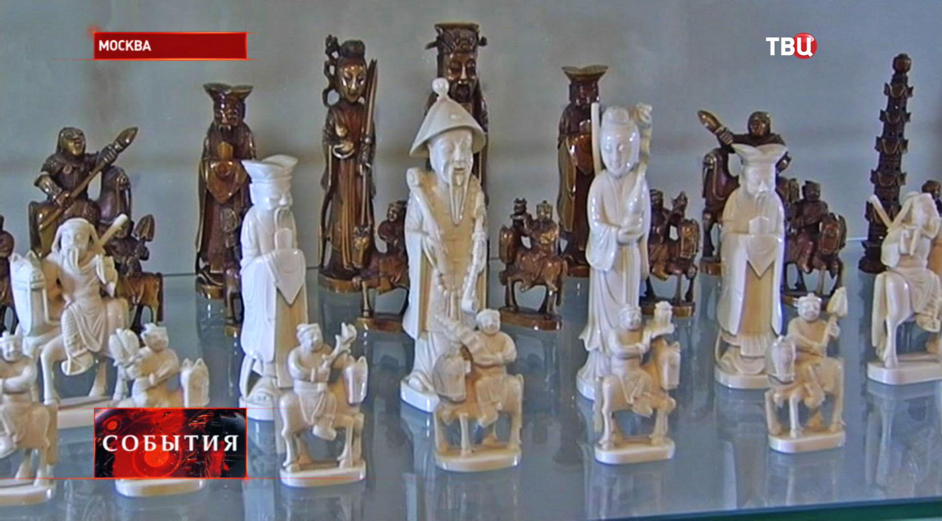 Экспонаты музея шахмат