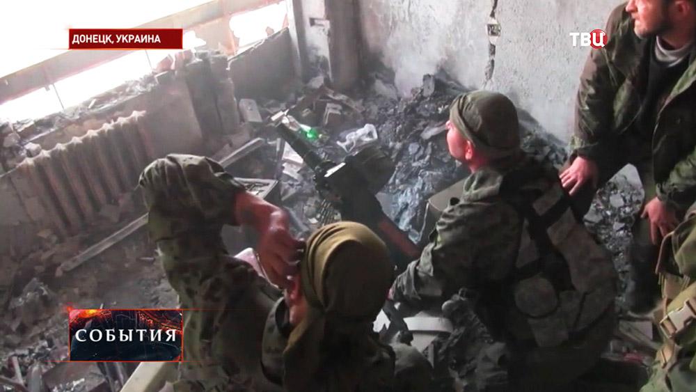 Ополченцы Новороссии ведут бой