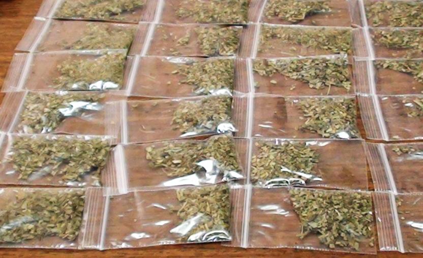 Изъятые курительные смеси