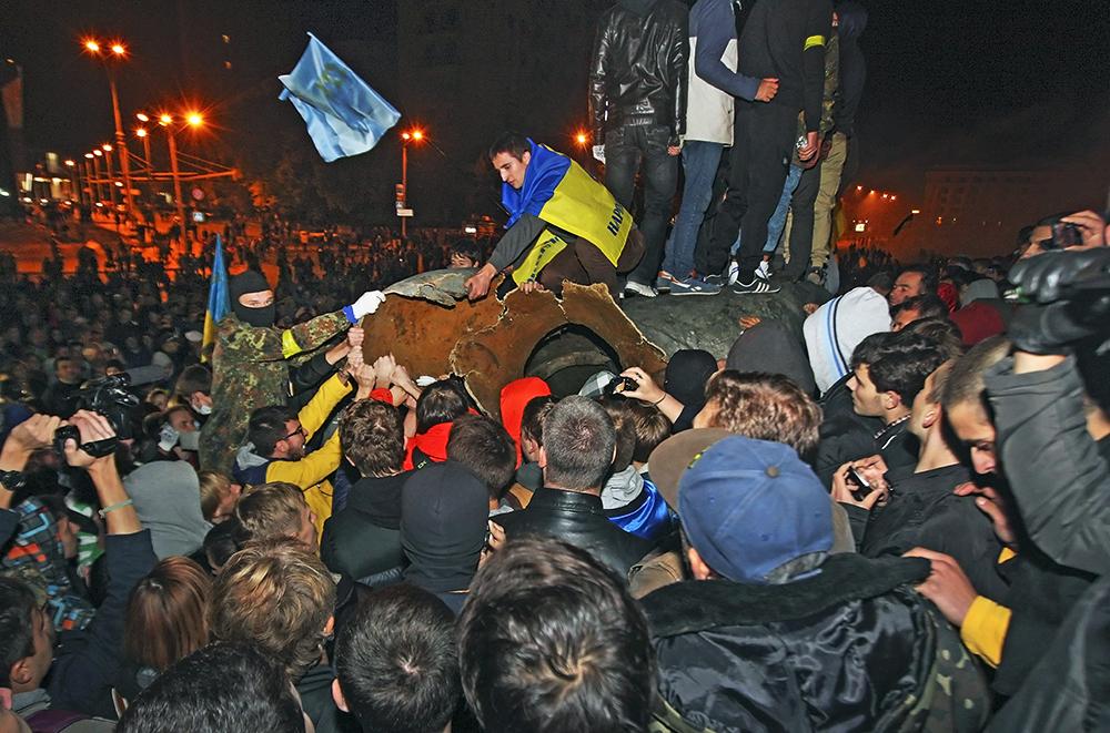 Уличные беспорядки в Харькове