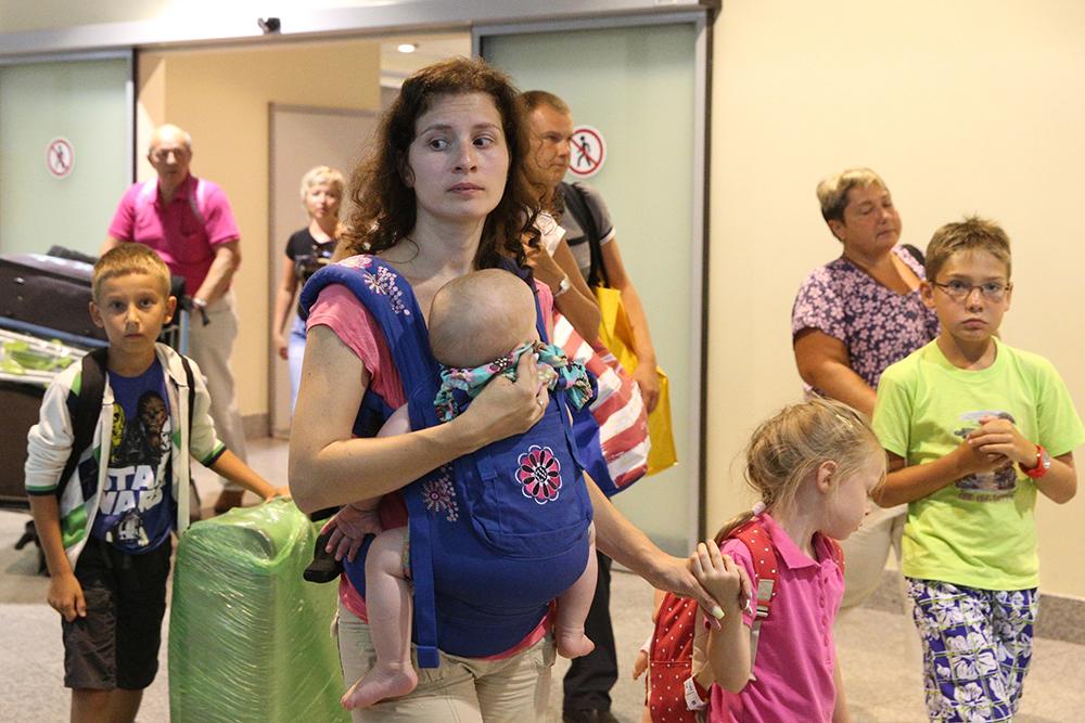 Туристы возвращаются в Москву