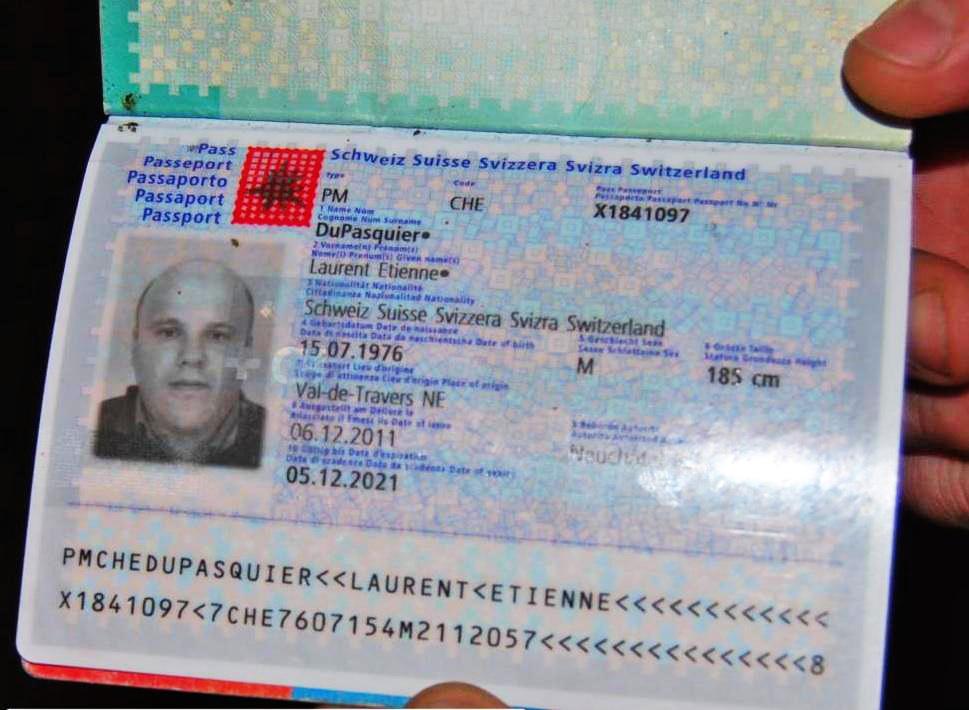Паспорт сотрудника Красного Креста, гражданина Швейцарии Лорана Этьена