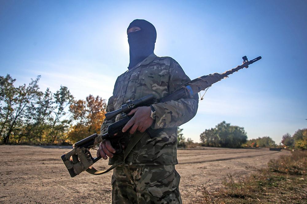 Боец Нацгвардии Украины