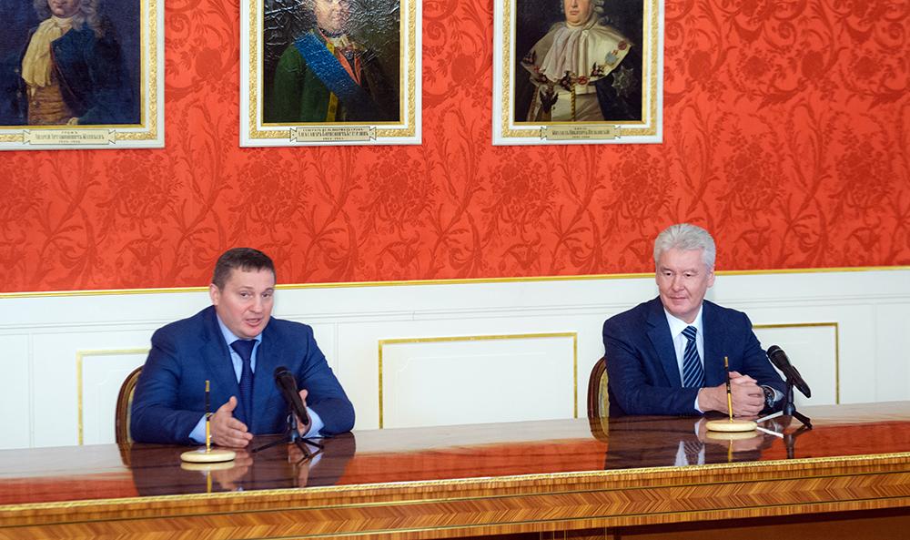 Губернатор Волгоградской области Андрей Бочаров и мэр Москвы Сергей Собянин