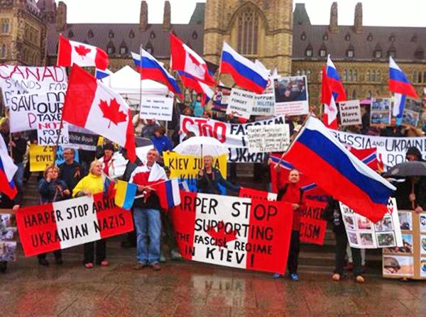Митинг против войны на востоке Украины прошел в Канаде
