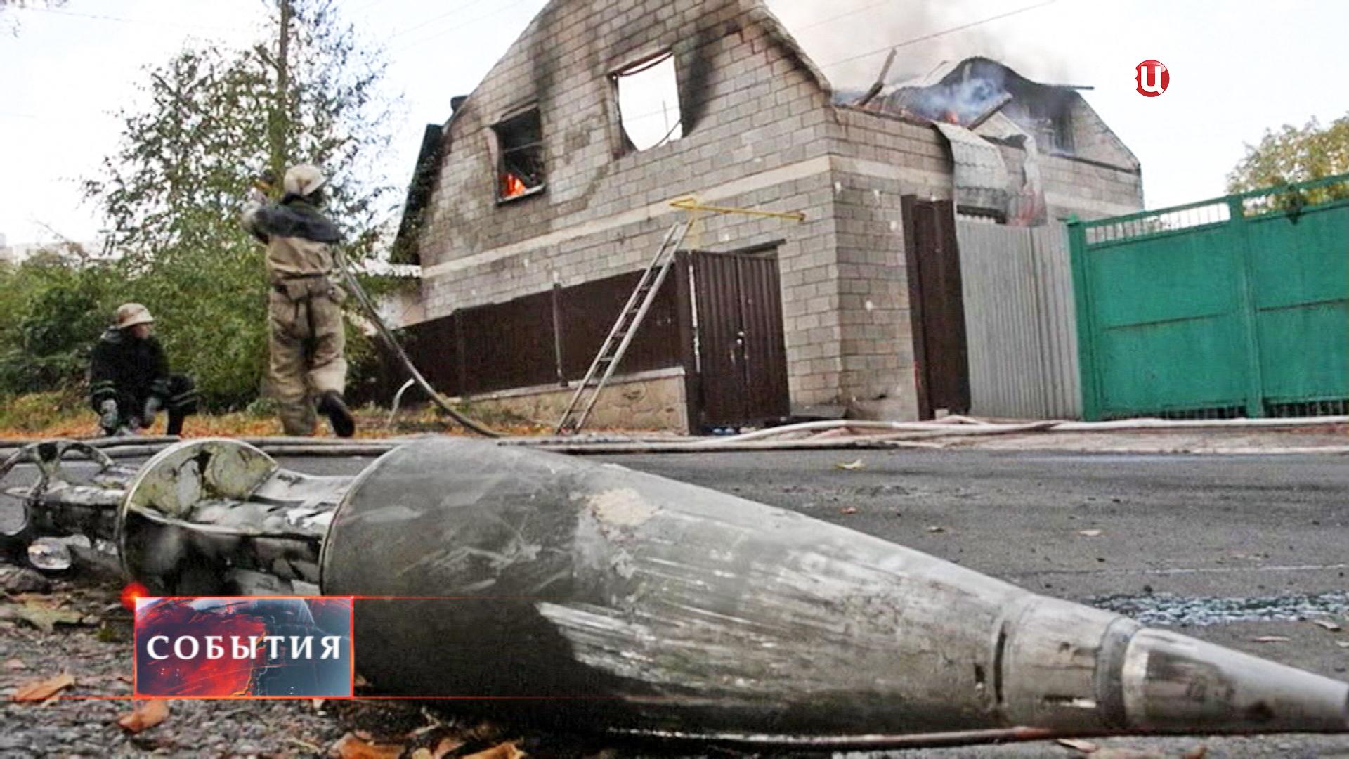 Результат артобстрела жилого района Донецка