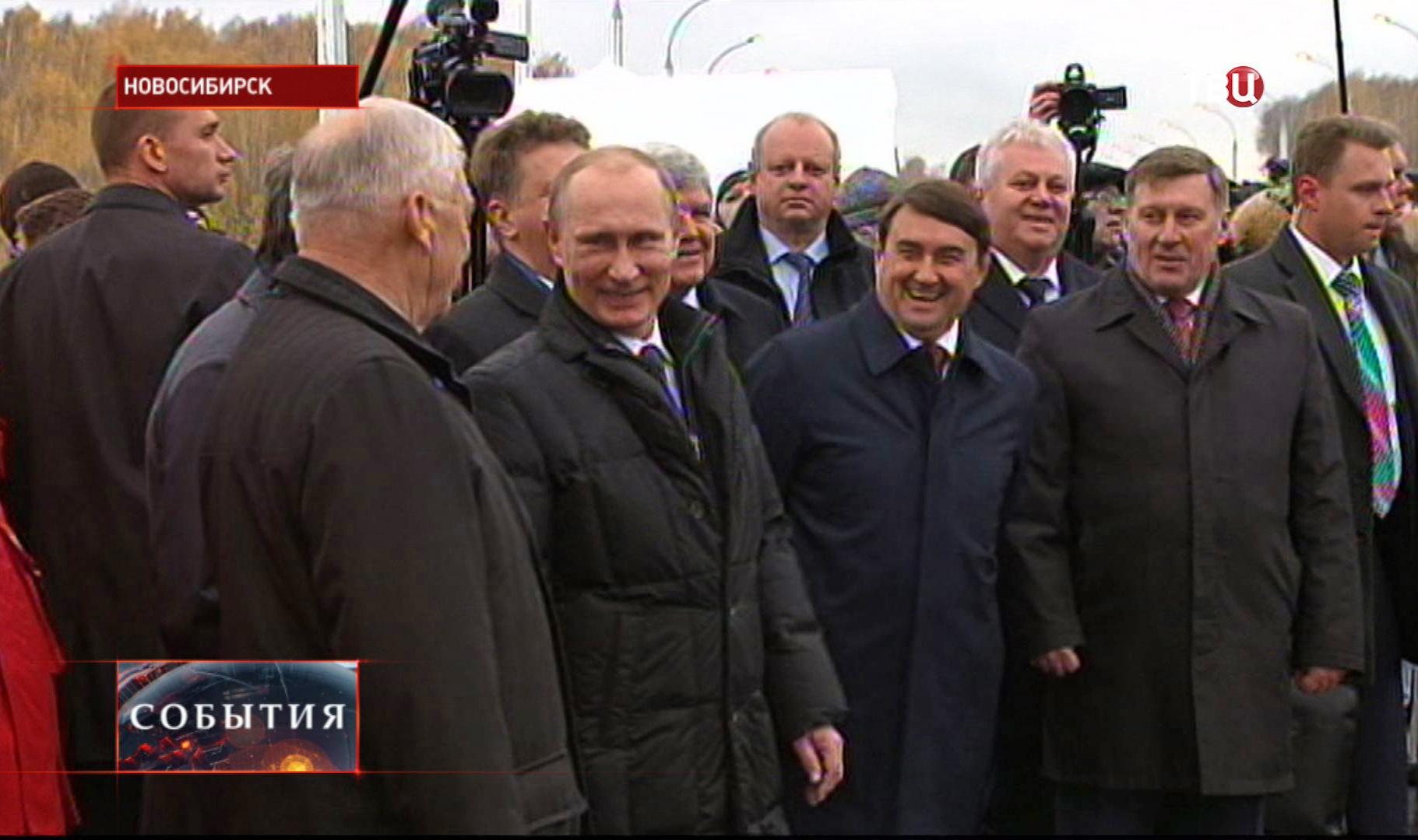 Владимир Путин в Новосибирске