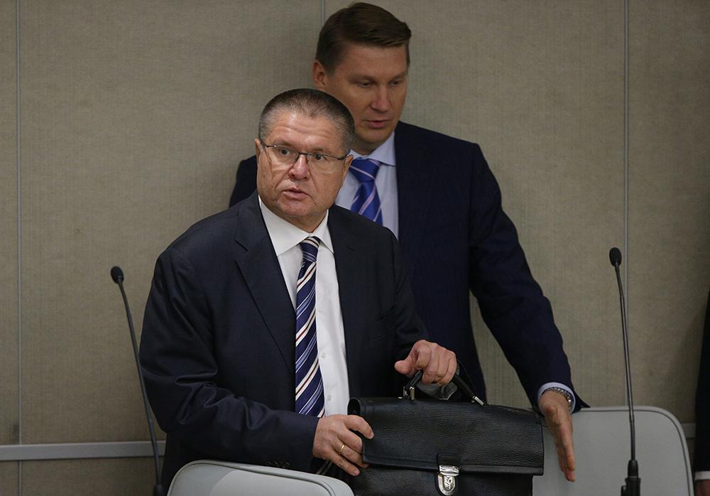 Алексей Улюкаев на пленарном заседании Госдумы РФ