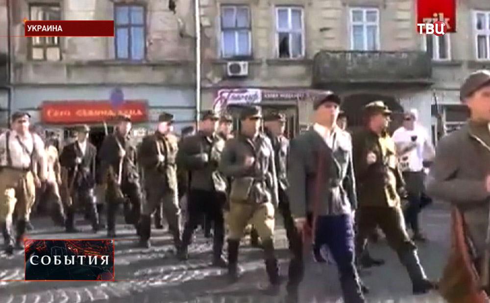 Марш украинских националистов в честь годовщины УПА