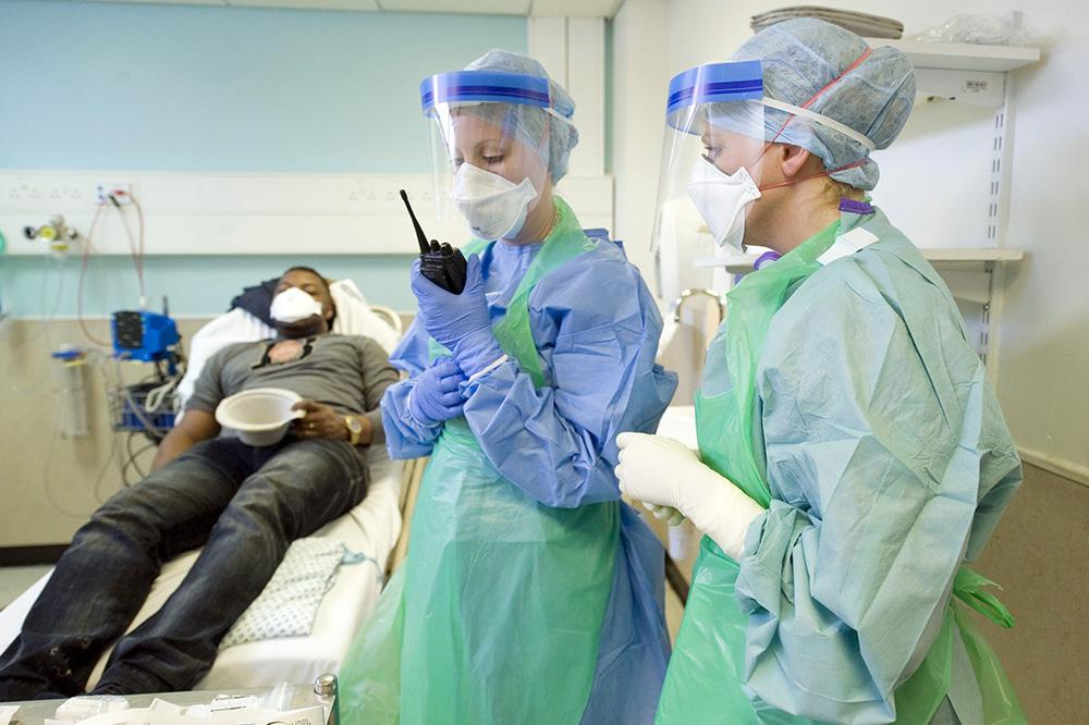 Учения по противодействию распространения лихорадки Эбола