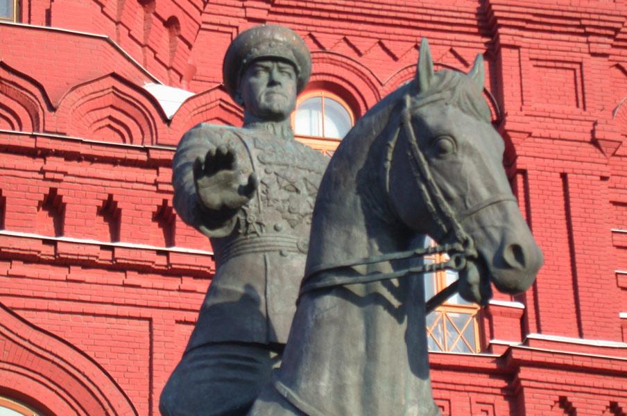 Памятник Жукову на Манежной площади