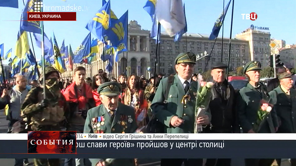 """Марш сторонников партии """"Свобода"""" и УПА в Киеве"""