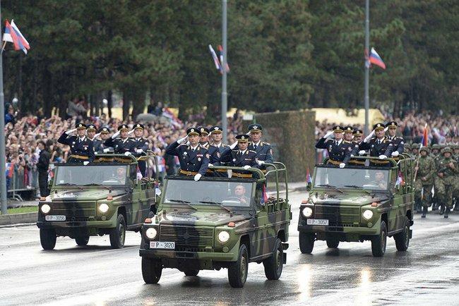 Военный парад «Шаг победителя», посвящённый 70-летию освобождения Белграда от немецко-фашистских захватчиков