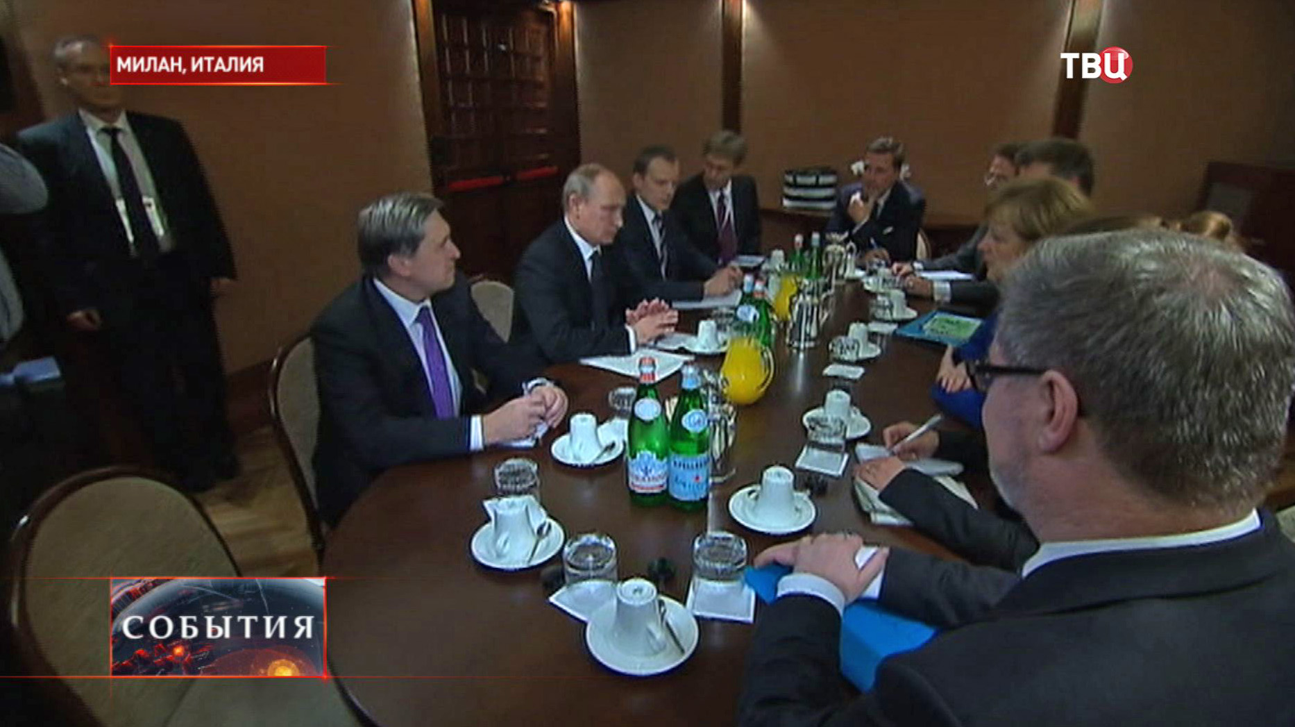 Официальный визит президента РФ В.Путина в Италии