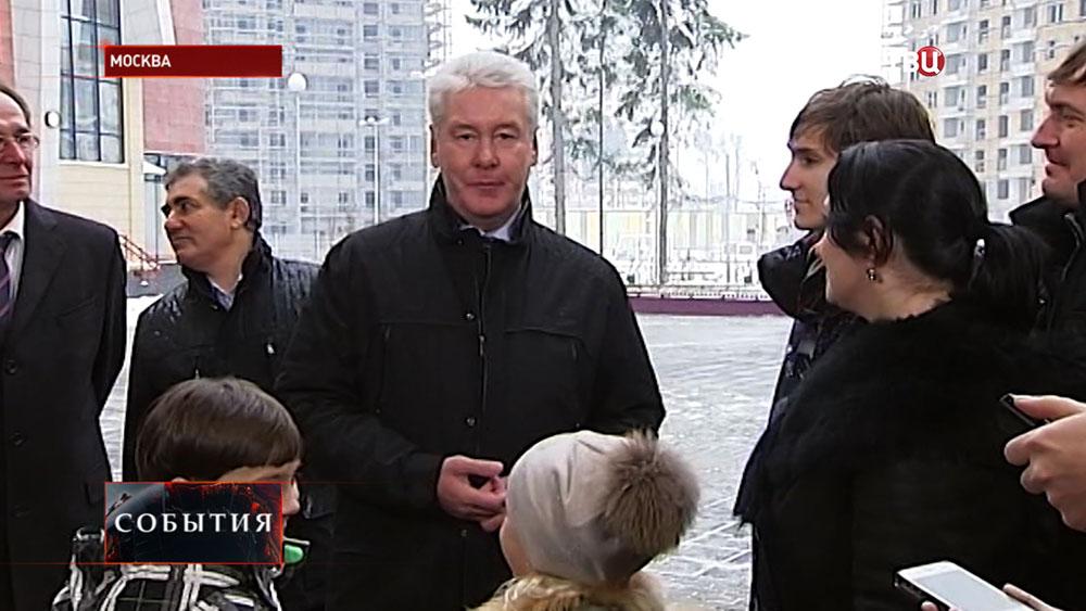 Сергей Собянин осмотрел новую школу в Зеленограде