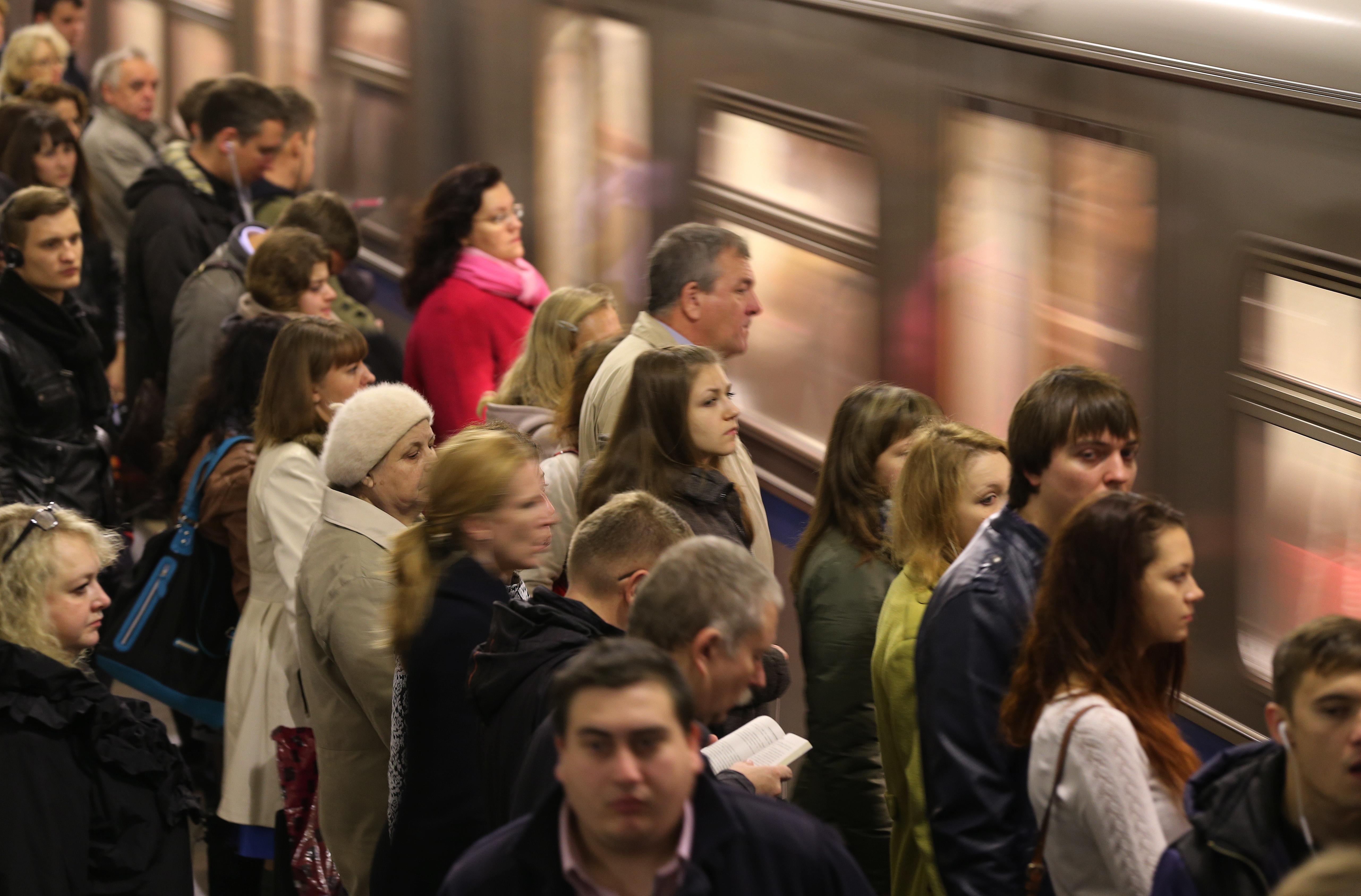 Час пик в Московском метрополитене