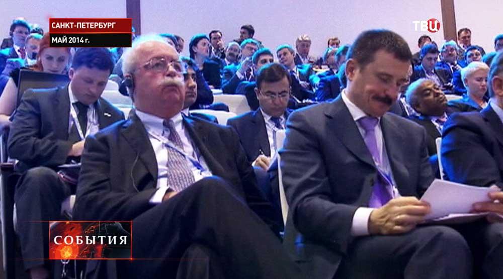 Президент нефтяной компании Total Кристоф де Маржери на форуме в Санкт-Петербурге