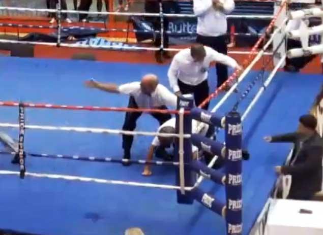 Хорватский боксёр Видо Лончар нокаутировал судью в отместку за проигрыш