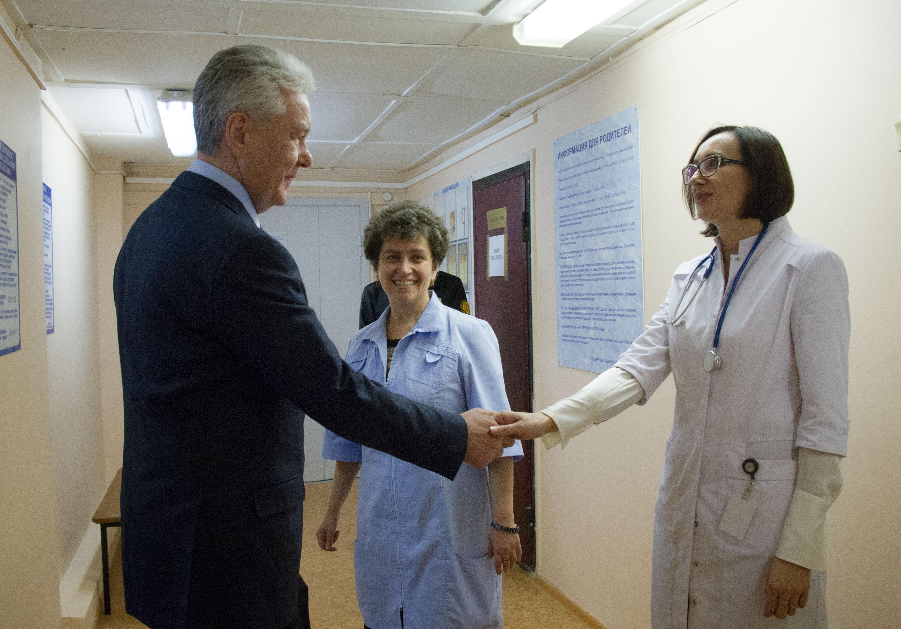 Сергей Собянин в Морозовской детской больнице